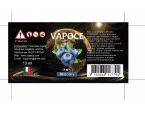 BLUEBERRY 10ML - VAPOCE