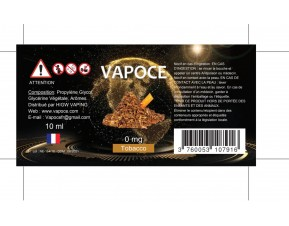 TOBACCO 10ML - VAPOCE