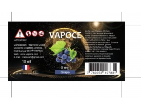 GRAPE 10ML - VAPOCE