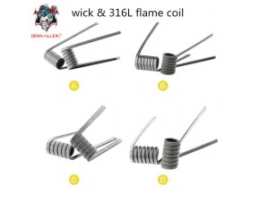 WICK AND FLAME COIL 316L DEMON KILLER
